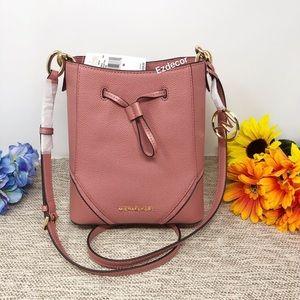NWT Michael Kors Nicole Small Bucket Leather Bag